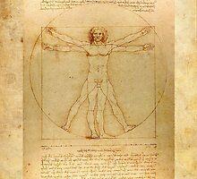 Leonardo Da Vinci Virtruvian Man by Tony  Bazidlo