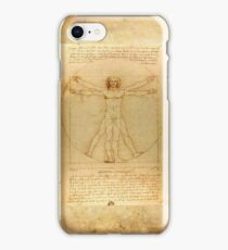 Leonardo Da Vinci Virtruvian Man iPhone Case/Skin