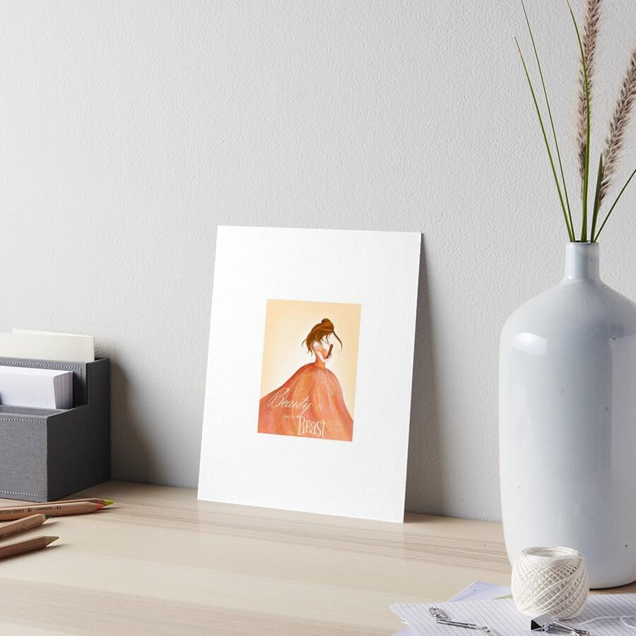 A Beauty Loves Her Books Art Board Print