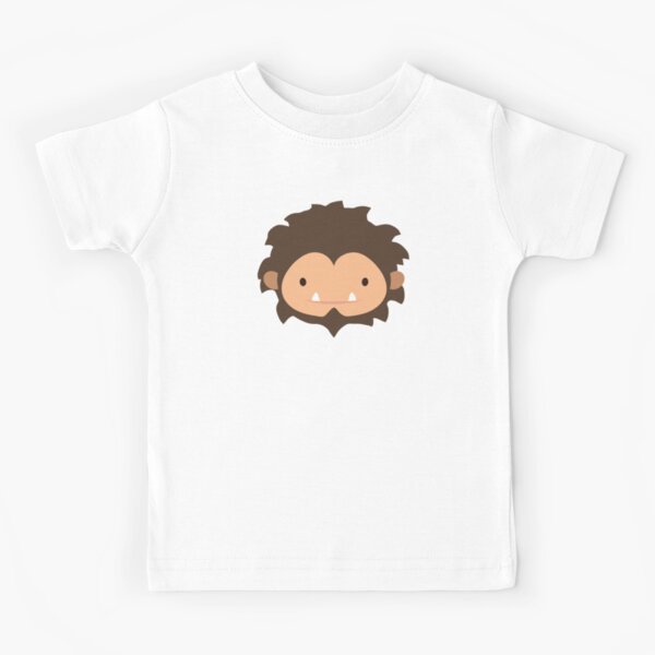 Sneaky Sasquatch Big Head Kids T-Shirt