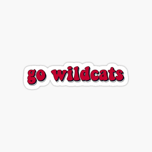 Red Triple Wildcats Sticker