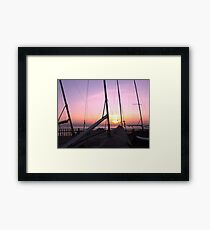 MASTS AT SUNSET Framed Print