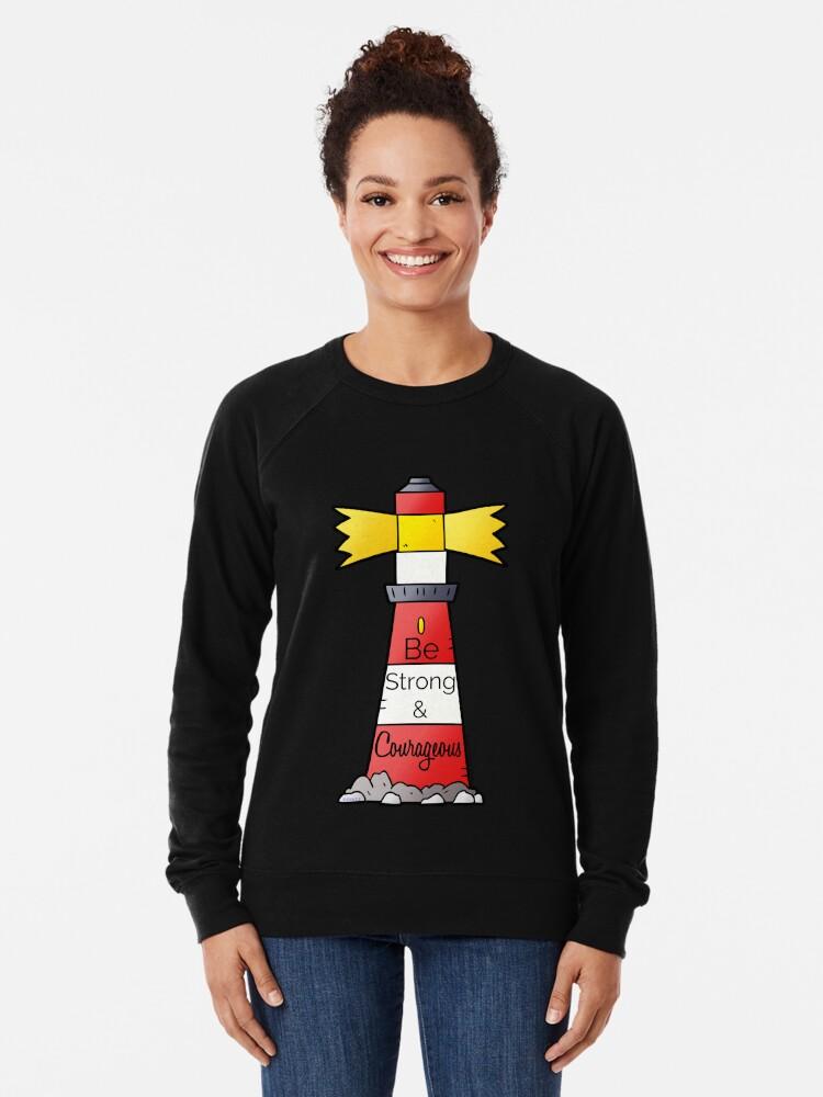 Alternate view of Be Strong & Courageous Lightweight Sweatshirt