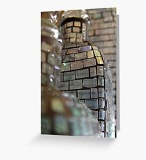 Mosaic Glass Decanter Greeting Card