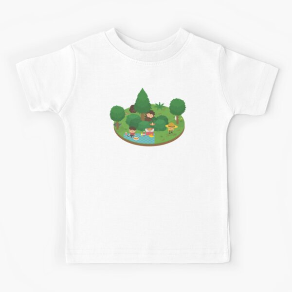 Sneaky Sasquatch Floating Picnic Kids T-Shirt