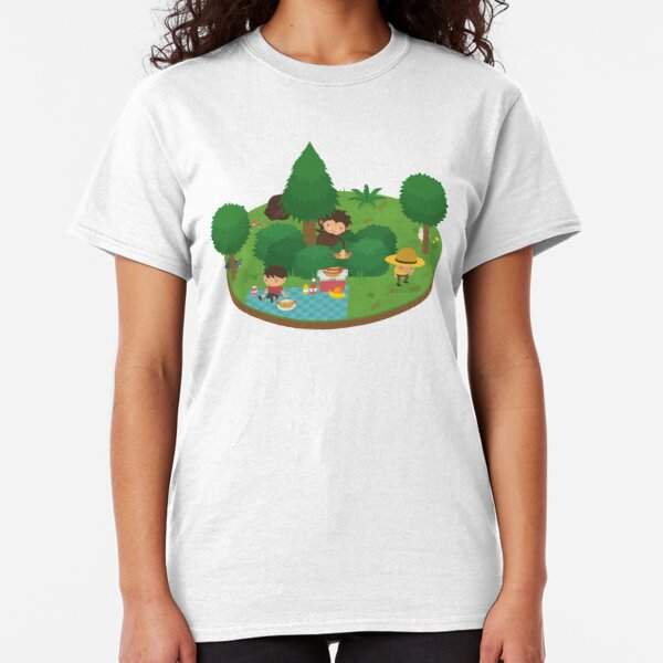 Sneaky Sasquatch Floating Picnic Classic T-Shirt