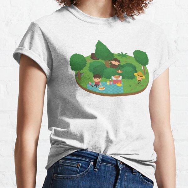 Sneaky Sasquatch Floating Picnic Classic T-Shirt