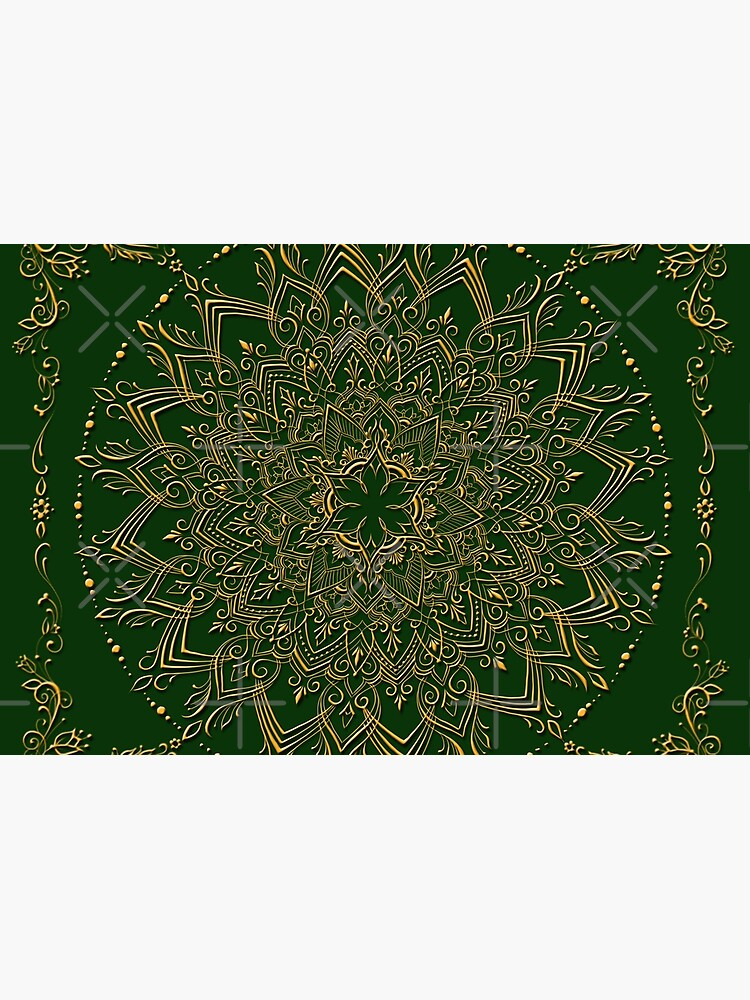 Dreamie's Mandala inGreen by dreamie09