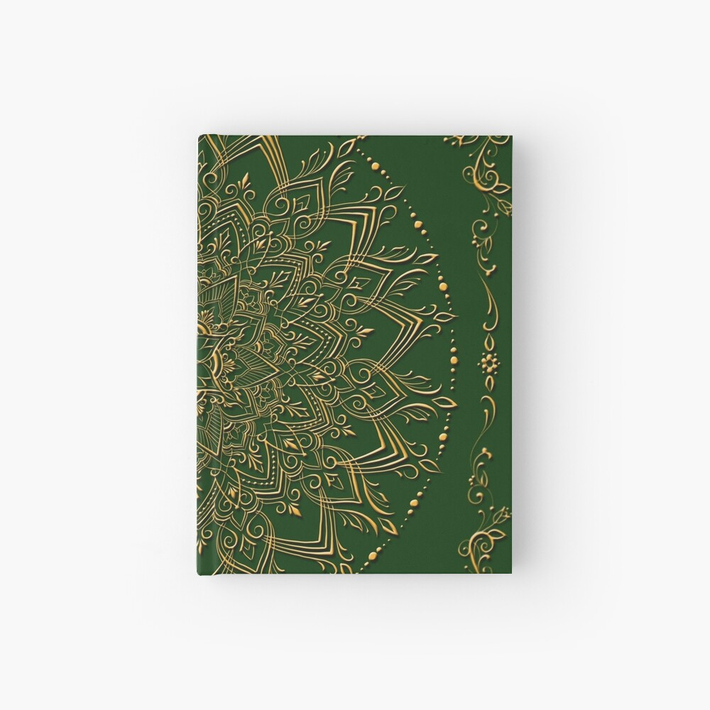 Dreamie's Mandala inGreen Hardcover Journal
