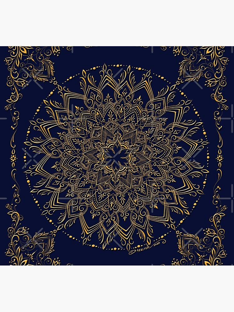Dreamie's Mandala in Royal Blue by dreamie09