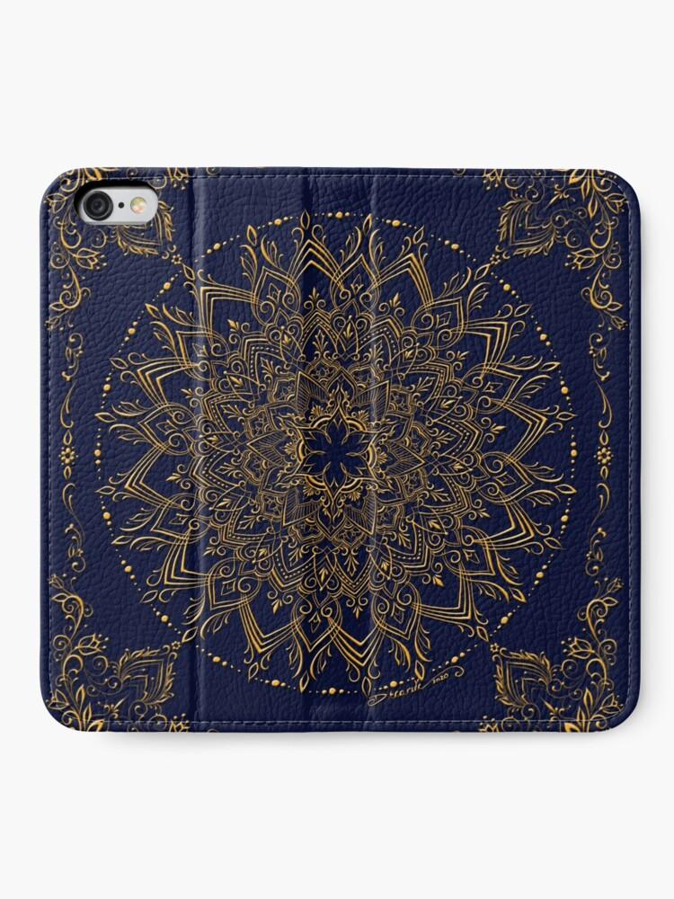 Alternate view of Dreamie's Mandala in Royal Blue iPhone Wallet