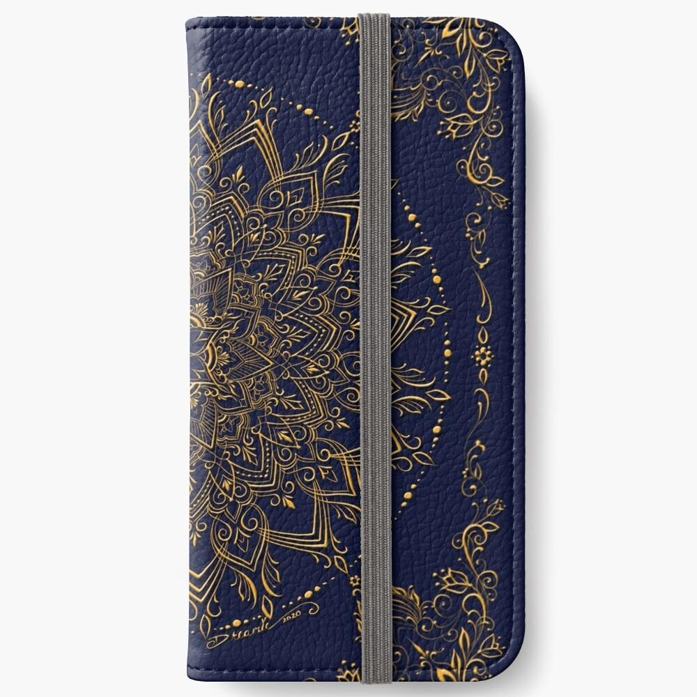Dreamie's Mandala in Royal Blue iPhone Wallet