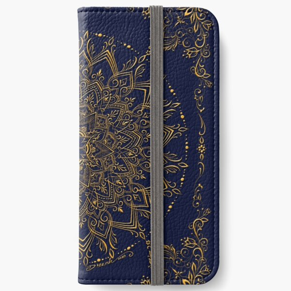 Dreamie's Mandala in Royal Blue iPhone Wallet