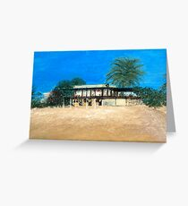 Kyrenia Beach Bar painting Greeting Card