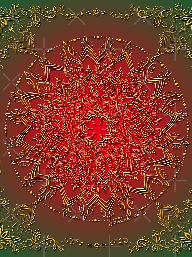 Dreamie's Mandala in Reds and Greens by dreamie09