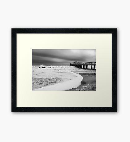 Ocean Grove Fishing Pier Framed Print
