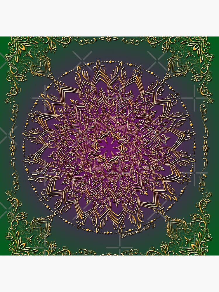 Dreamie's Mandala in Peacock Green by dreamie09
