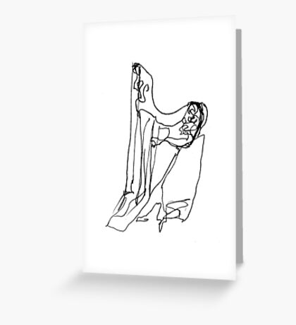 the harpist Greeting Card