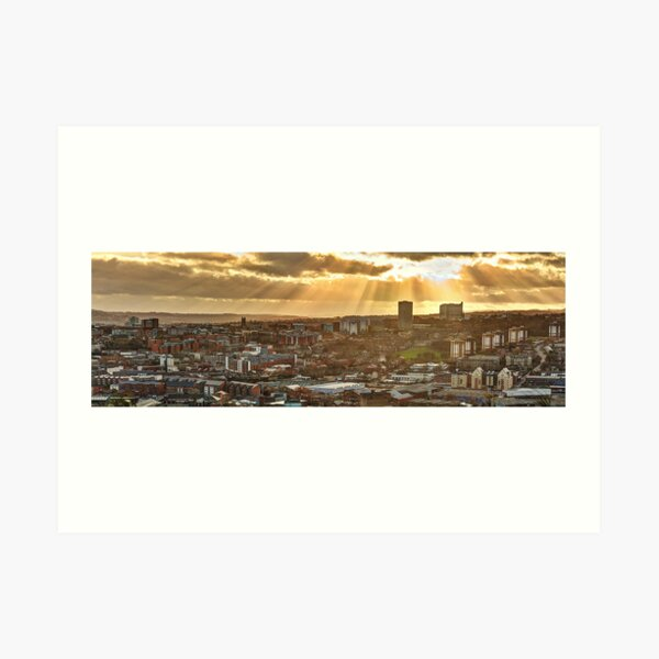 Sheffield Skyline Panorama Art Print
