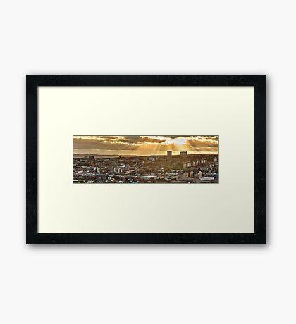 Sheffield Skyline Panorama Framed Print