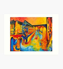 street of colours Art Print