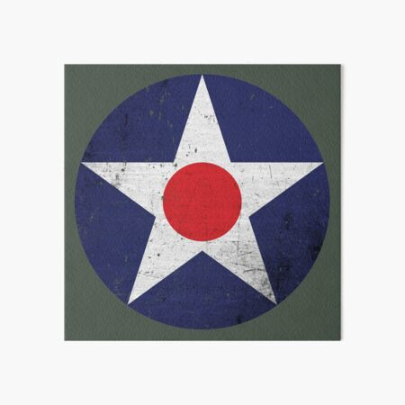 Vintage USAAC Roundel 1919-1941 distressed Art Board Print