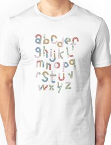 Alphabet in pieces of pattern paper T-Shirt