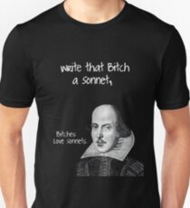 Shakespeare - Bitches Love Sonnets Slim Fit T-Shirt
