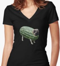 water melen Women's Fitted V-Neck T-Shirt