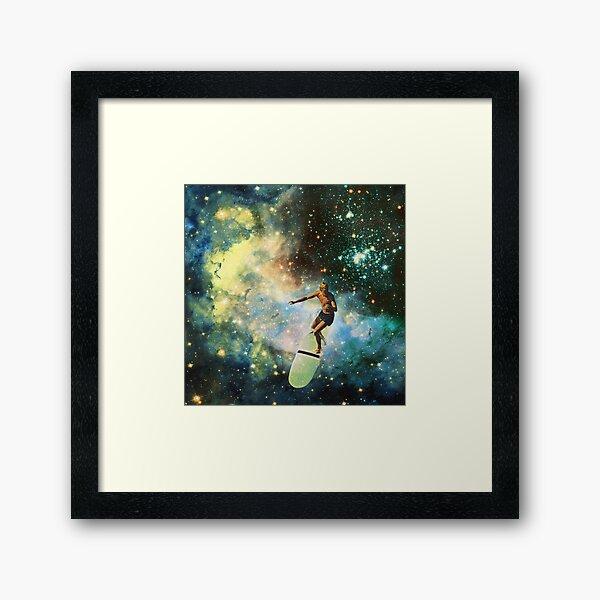 Cosmic Surfer Framed Art Print