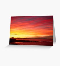 Sunrise over Union Reservoir in Longmont Colorado Boulder County Greeting Card