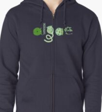 Literate Microscopic Algae Zipped Hoodie