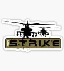 AH-64 Apache Helicopters Air Strike Sticker