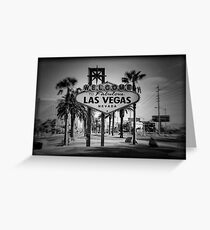 Welcome To Las Vegas Sign Series 3 of 6 Holga Black and White Greeting Card