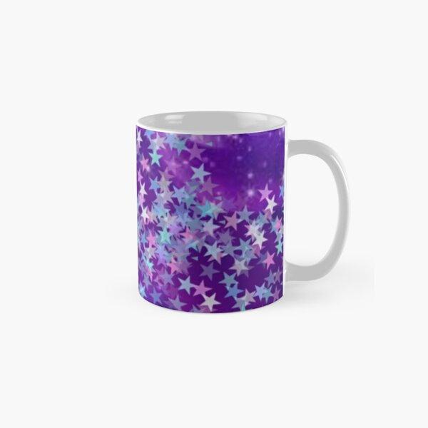 Spring Purple Green Star Design Classic Mug