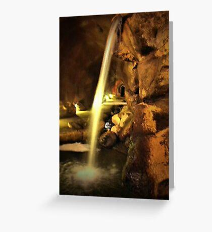 Undergound Waterfall Greeting Card