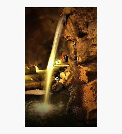 Undergound Waterfall Photographic Print
