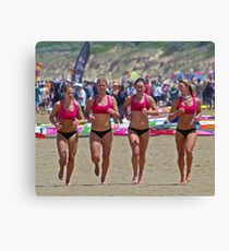Port Campbell girls warm up Canvas Print