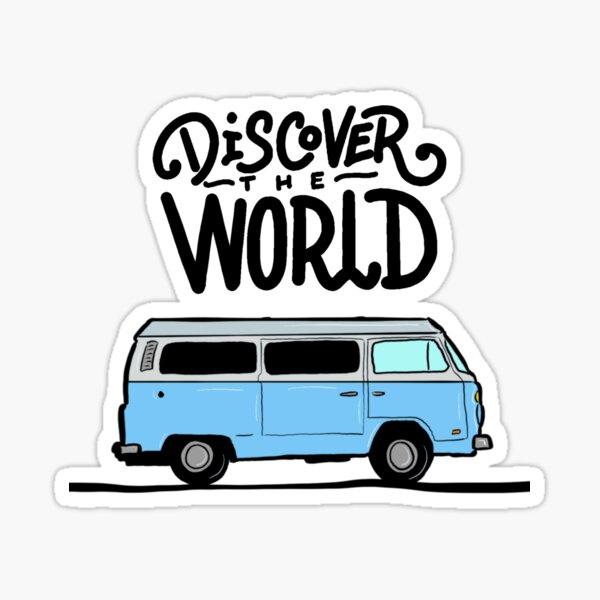 Discover the world Sticker