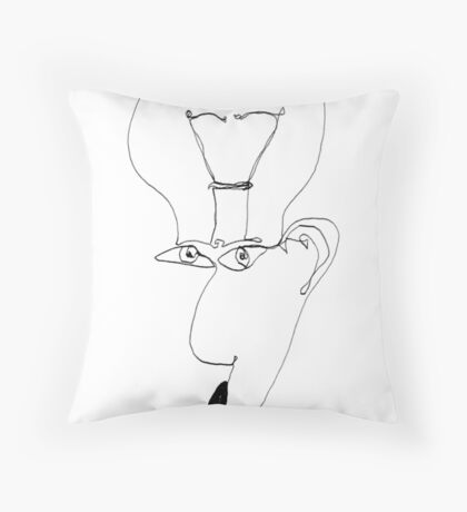 Burn Out (one-line #104) Throw Pillow