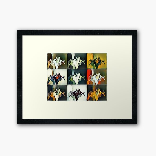 Vase of Flowers Pop Art #5 Designed & Created by © Janet Watson Art Framed Art Print