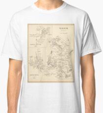 Vintage Map of Salem Massachusetts (1892) Classic T-Shirt