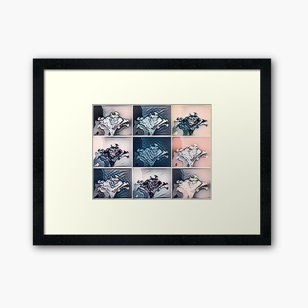 Vase of Flowers Pop Art #6 Designed & Created by © Janet Watson Art Framed Art Print