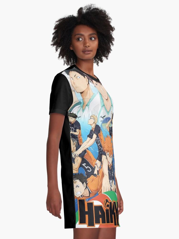 Alternate view of Haikyu!! Graphic T-Shirt Dress