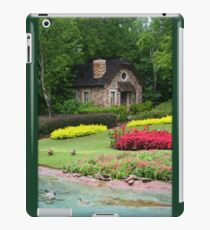 English Style Cottage With Pond In Orlando Florida iPad Case/Skin