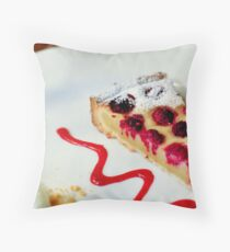 Raspberry Frangipane Throw Pillow