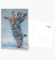Yorkshire Terrier Fine Art Painting Postcards