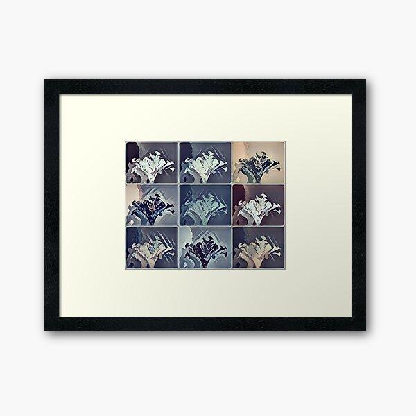Vase of Flowers Pop Art #9 Designed & Created by © Janet Watson Art Framed Art Print