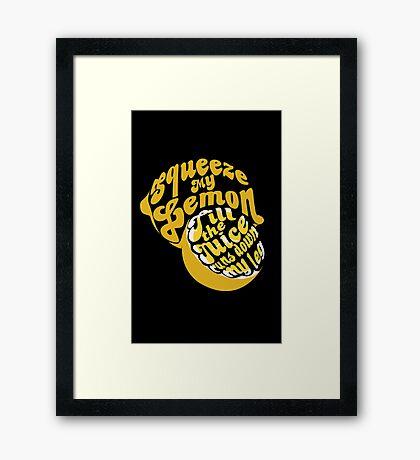 The Lemon Tee Framed Print