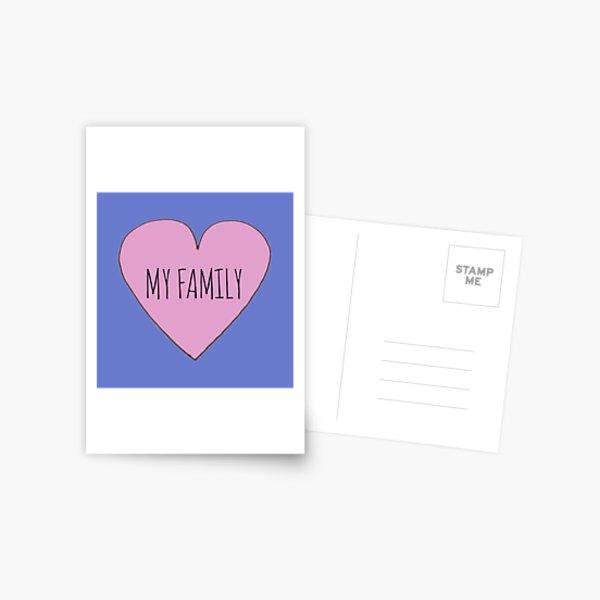 I Love My Family Postcard